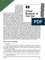 Critical Reception Free Jazz