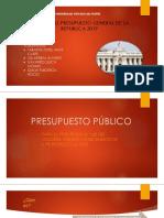 ANÁLISIS DEL PRESUPUESTO GENERAL DE LA REPUBLICA 2019