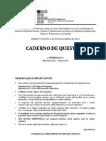 C067 - Matematica (Perfil 01) - Caderno Completo