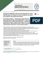 Evaluación Diagnóstica Del Nivel de Desarrollo en Ninos