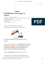 Difference Between Transhipment and Cargo in Transit.