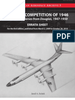 """Errata Sheet for """"The B-52 Competition of 1946...and Dark Horses from Douglas, 1947-1950 (The American Aerospace Archive 3)"""""""