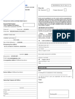 Enrolment Form Singapore