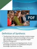 Synthesizing Texts