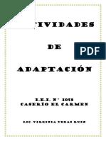 Actividades de Adaptacion 2019