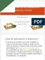 Antecedentes de la Educación a Distancia y Virtual