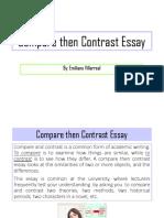 Compare Then Contrast Essay