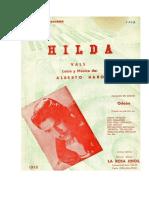 Partituras Vals Hilda - Piano