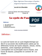 Cycles d'azot
