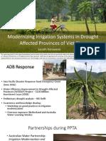 201706 Modernizing Irrigation Systems Drought Affected Provinces Viet Nam Adb Response