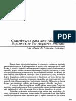 Contribuição Para Uma Abordagem Diplomática Dos Arquivos Pessoais - Ana Maria de Almeida Camargo