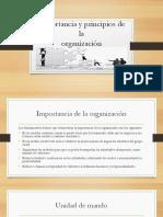 Importancia y Principios de La Organización