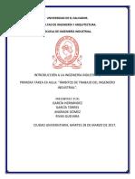 ÁMBITOS DE TRABAJO DEL INGENIERO INDUSTRIAL