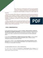 Etica y Etica Profesional