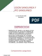 Transfusion Sanguinea y Grupo Sanguineo