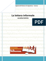 Caratteristiche Della Lettera Informale