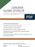 Economía global. Sistema financiero