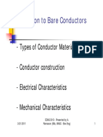 Introduction to Bare Overhead Conductors
