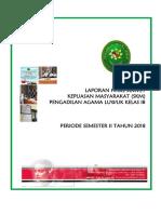 Laporan Hasil Survey Semester II 2018