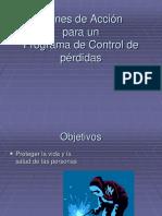 Planes de accion para un control de perdidas