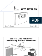 Thermostat 44550 Owners Manual