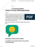 Messenger Communication Platform Pricing | MessengerPeople