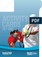 schools tennis activity cards - set 1
