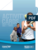 schools tennis activity cards - set 2