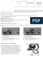 PV Connector Instructions