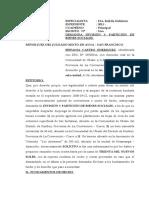 DEMANDA DE DIVISIÓN Y PARTICIÓN