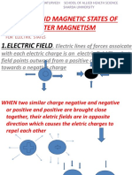 Electric and Magnetic States of Matter Magnetism