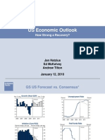 US Economic Outlook 2010 [GS]