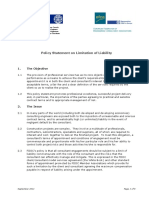 FIDIC-EFCA - Policy Statement on Limitation of Liability