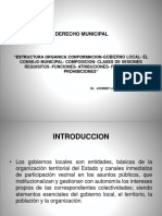 5ta y 6ta SemanaDerecho Municipal Estructura Organica-Consejo Municipal-Funciones