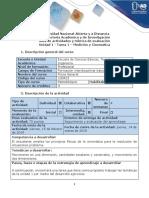 Guía de actividades y rúbrica de evaluación - Tarea 1 - Medición y cinemática.docx