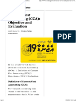 Current Cost Accounting (CCA)_ Objective and Evaluation