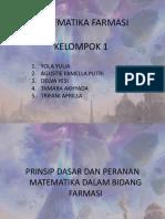 Tugas Matematika Farmasi Kelompok 1