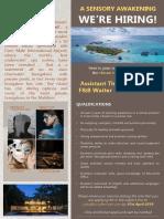 Job Advert - Assit Thakur, Gardner,Waiter