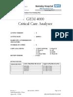 GEM 4000 Training Plan