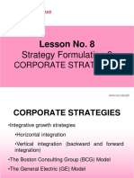 CORPORATE STRATEGIES