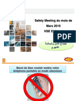 Safety Meeting - Mars 2019