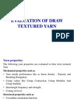 Evaulation of False Twist Yarn