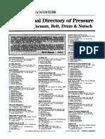 International Directory of Pressure Filters — Vacuum, Belt, Drum & Nutsch
