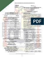 Ordenanza Sobre Organización, Control y Autorización Para El Expendio de Bebidas Alcohólicas
