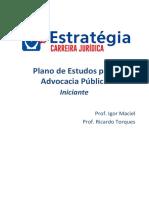 Roteiro de Estudos Advocacia Pública