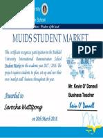 certificate student market participation 2017-18 june