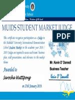 certificate student market judge 2018-19 june