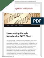 Harmonising Chorale
