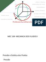 Aula 04-Mecânica Dos Fluidos- Pressãoestáticafluido
