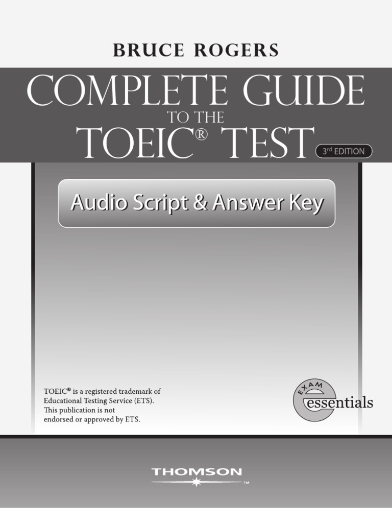 Complete guide to toeic test ebook publishing elevator fandeluxe Image collections